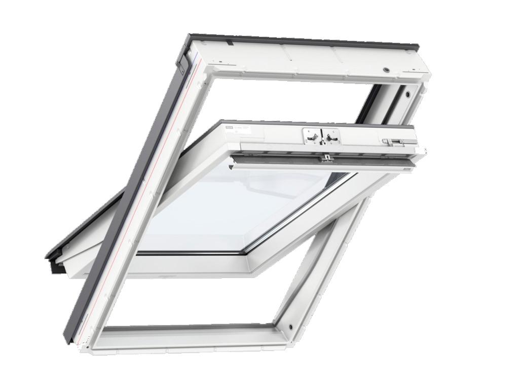 Barre D Ouverture Velux en ce qui concerne fenêtre de toit velux glu 0051   finition everfinish - le blanc éternel
