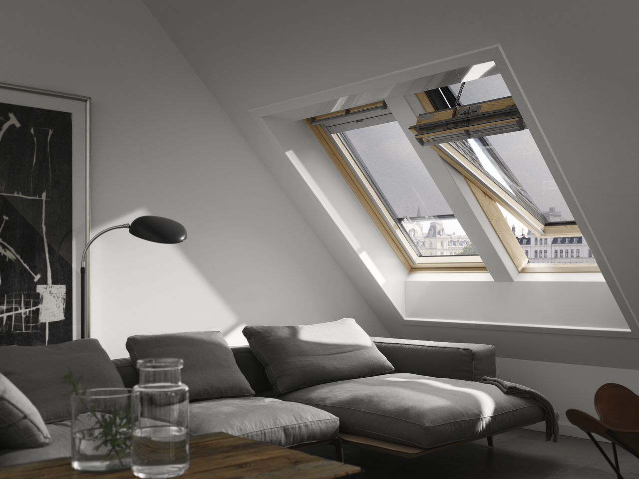 electric roof window velux ggu comfort 60 everfinish. Black Bedroom Furniture Sets. Home Design Ideas