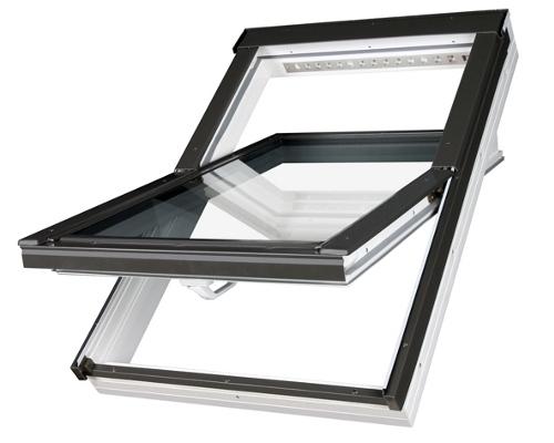 dachfenster fakro ptp v u3 schwingfenster aus kunststoff. Black Bedroom Furniture Sets. Home Design Ideas