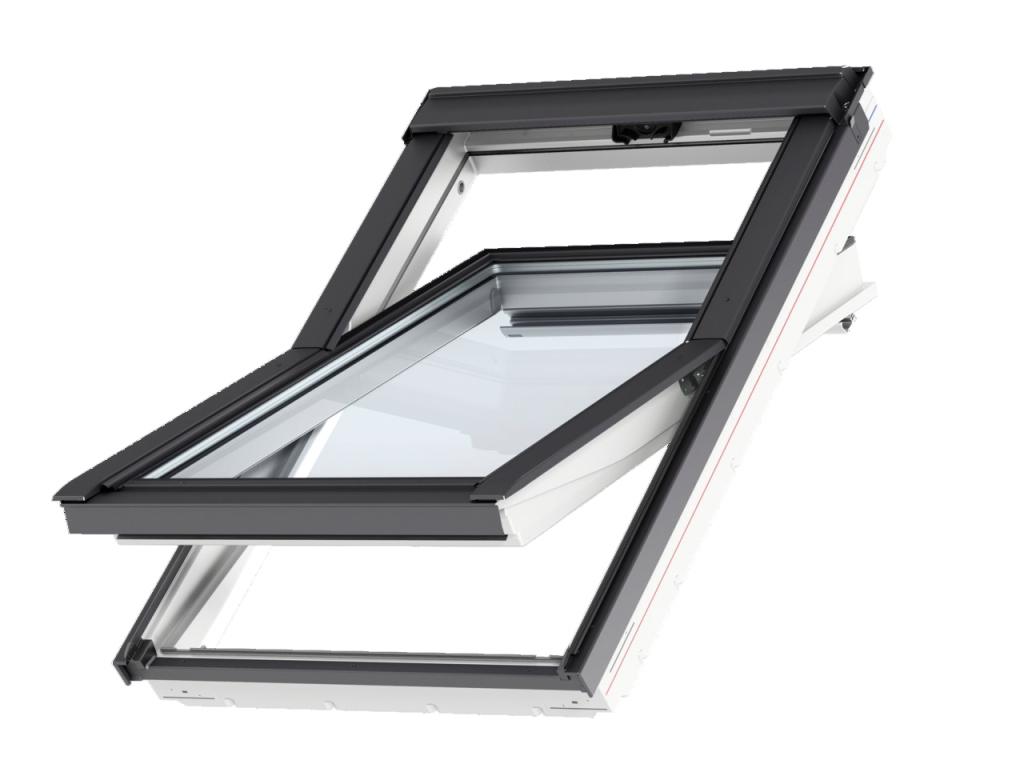fen tre triple vitrage velux glu b 0061 finition everfinish le blanc ternel. Black Bedroom Furniture Sets. Home Design Ideas