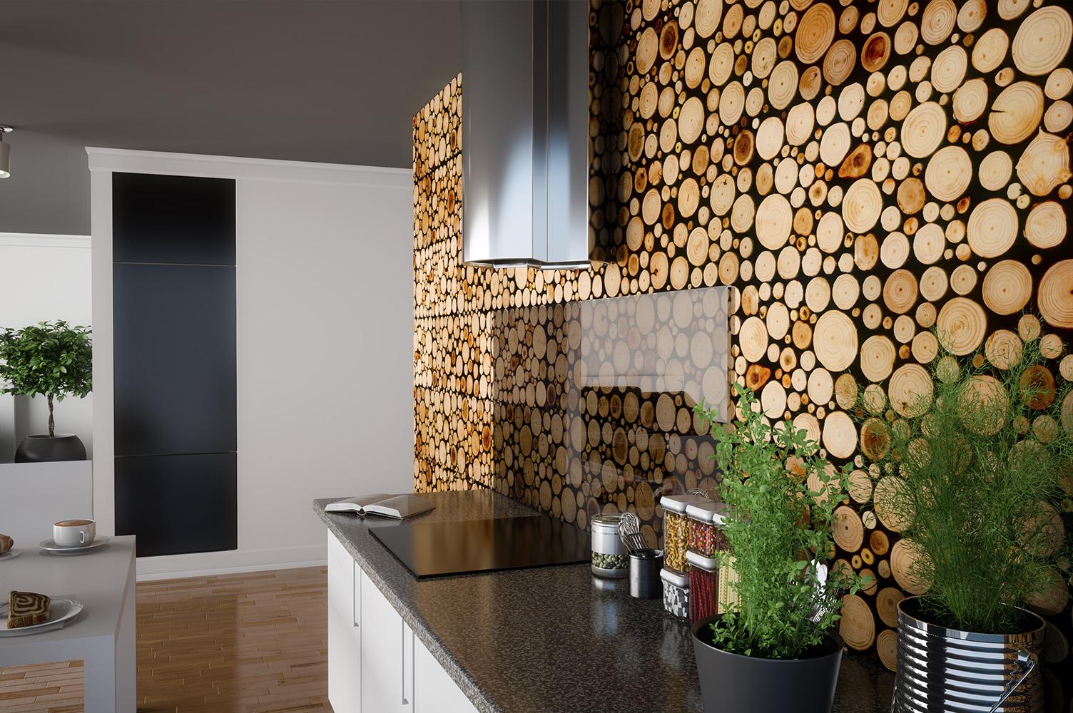 3D Holz Paneele
