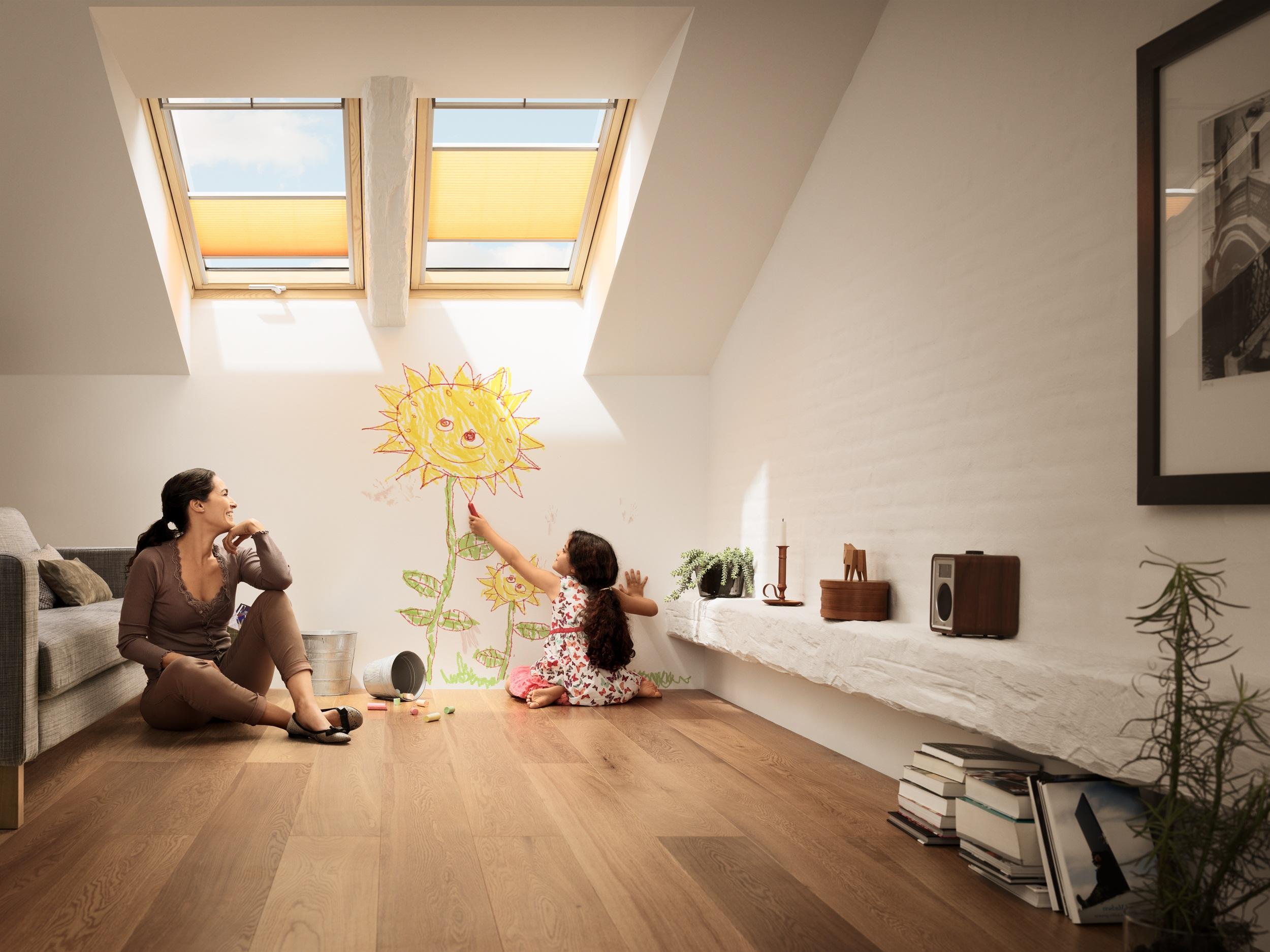 Barre D Ouverture Velux avec fenêtre de toit velux gpl 3066   finition bois massif