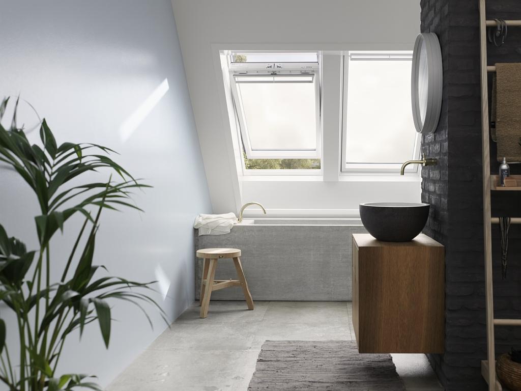 fen tre de toit velux ggu 0066 finition everfinish le blanc ternel. Black Bedroom Furniture Sets. Home Design Ideas