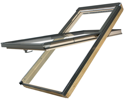 fen tre de toit fakro fyp v u3 prosky rotation r hauss e. Black Bedroom Furniture Sets. Home Design Ideas