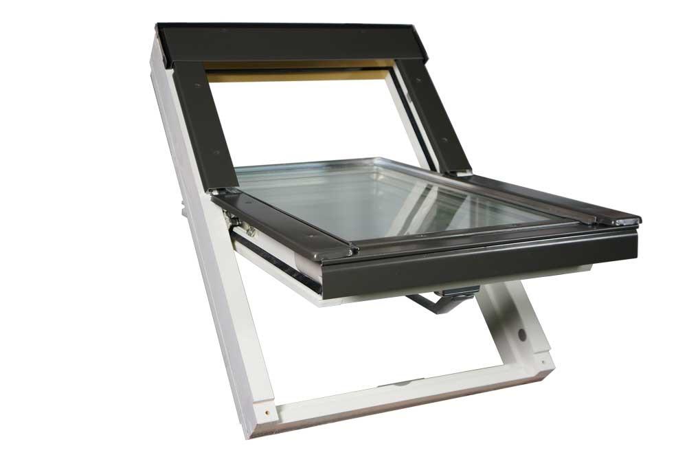 fen tre de toit optilight vb w avec entr e d 39 air blanc. Black Bedroom Furniture Sets. Home Design Ideas