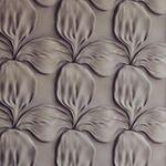 3D Wandpaneele aus Gips  FLOWER (48x48 cm)