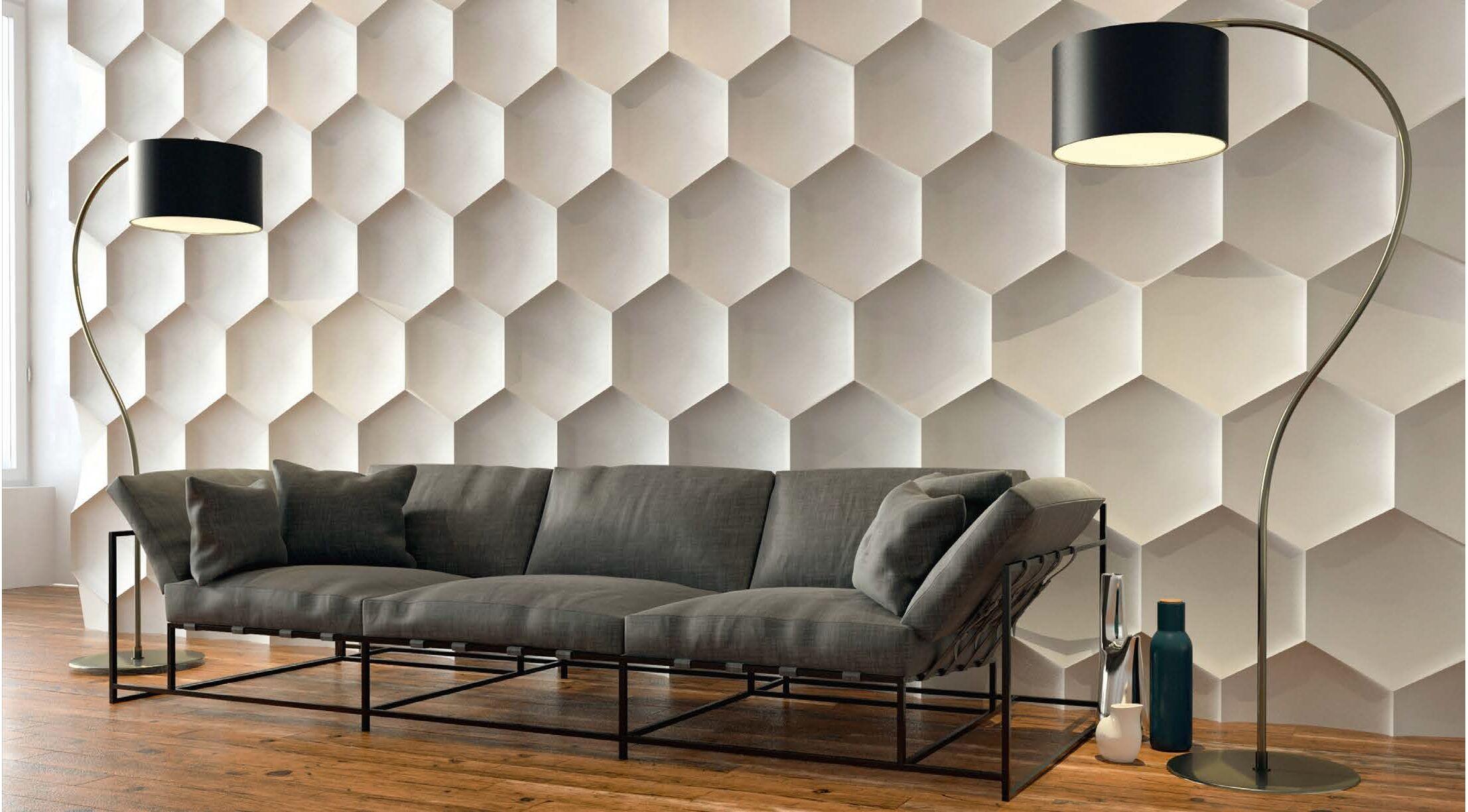 3d wandpaneele home ideen. Black Bedroom Furniture Sets. Home Design Ideas