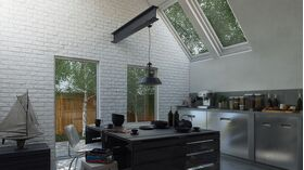 PARMA WHITE, brique en gypse pour intérieur avec joint intégré