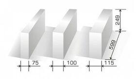 Cellular concrete SOLBET PP2-050 according to DIN V 4108-4