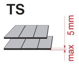 Flashing Optilight TS for thin coverings (up to 18mm)