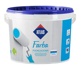 Atlas FARBA white acrylic undercoat paint for indoor use
