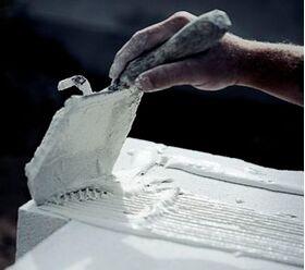 Cellular concrete thin-layer adhesive mortar white
