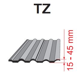 Flashing Optilight TZ for tiled coverings (up to 45mm)