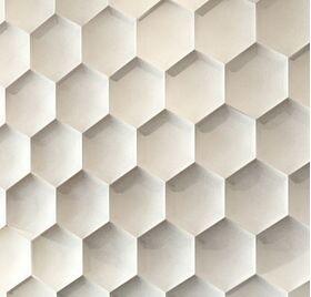 3D Wandpaneele aus Gips HEXAGON (62x72 cm)