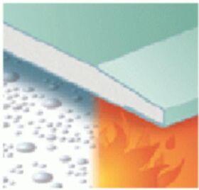 Plaque de plâtre imprégnée et résistante au feu GKFI 12.5 x 1200 x 2000 mm