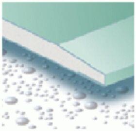 Plaque de plâtre imprégnée GKBI 12.5 x 1200 x 2000 mm