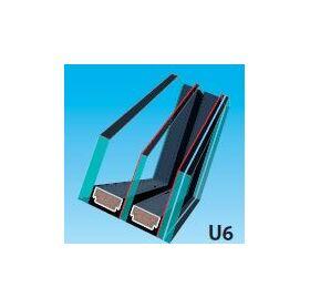Double-chamber U6 glazing unit