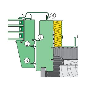 Quadruple sealing system