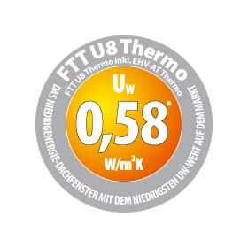 Roof window FAKRO FTT/U U8 Thermo | Uw = 0,58 (!)