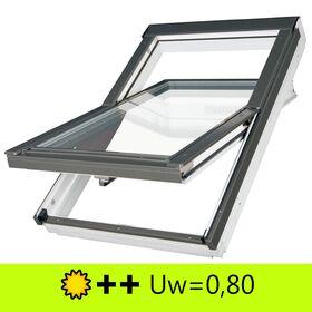 FAKRO FTT-U U6 | wooden, everfinish, high pivot, roof window