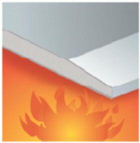 Plaque de plâtre résistante au feu GKF 12.5 x 1200 x 2000 mm