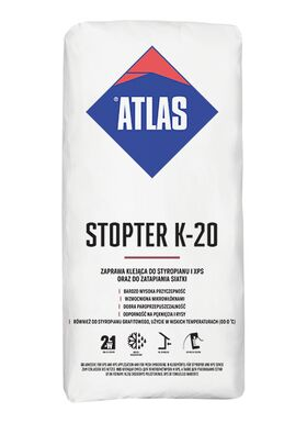 Atlas Stopter K-20 - 2 in 1 - adhesive both for fixing foamed polystyrene, XPS boards and for mesh embedding
