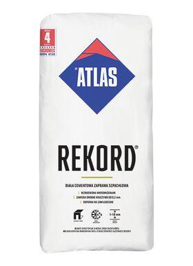 ATLAS REKORD, mortier mural de ragréage et finition à base de ciment blanc (1-10 mm)