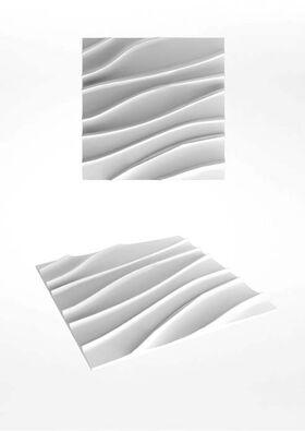 3D Wandpaneele aus Gips SOLANO (78x78 cm)