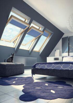 Dachfenster FTP-V U4 von FAKRO mit Dauerlüftung und 3 Verriegelungsstufen
