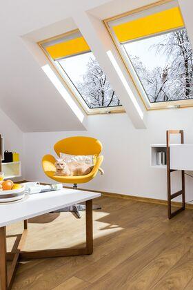 FAKRO FTT U6 Thermo | wooden, high pivot, tripple-glass roof window